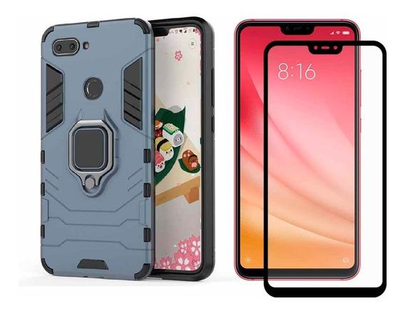Funda Xiaomi Redmi Mi Case Uso Rudo Protector Mica 5d