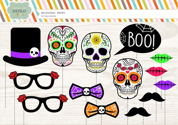 Props Halloween - Photobooth - Props Infantiles
