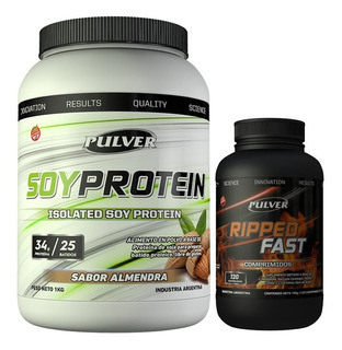 Soy Protein 1 Kg Pulver Soja Sin Tacc + Quemador Ripped Fast