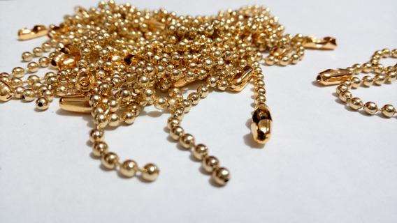50 Corrente 10x2,5 Latonada/dourada Tag Brindes Lembrança