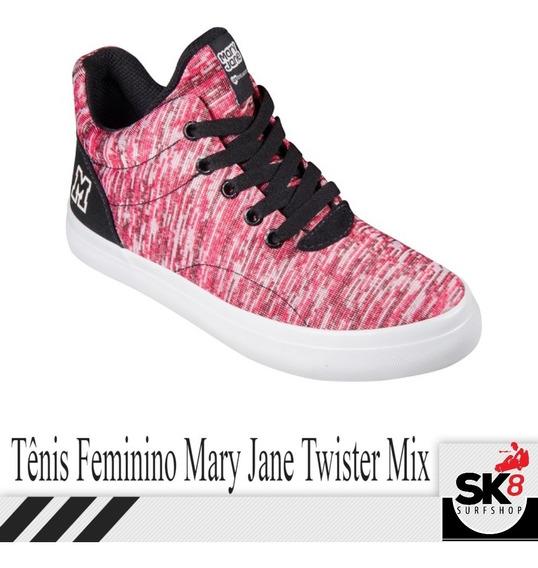 Tenis Feminino Mary Jane Tw. Mix Cano Alto Original