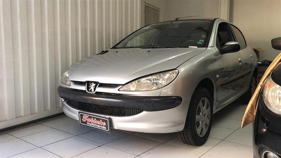 Peugeot 206 2005 Prata 1.6 Flex Completo Excelente Carro