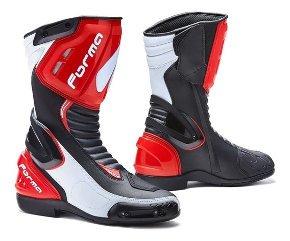 Botas Forma Freccia Ngo/bco/rjo Motociclista