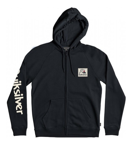 Buzo Canguro Quiksilver In The Middle // Negro