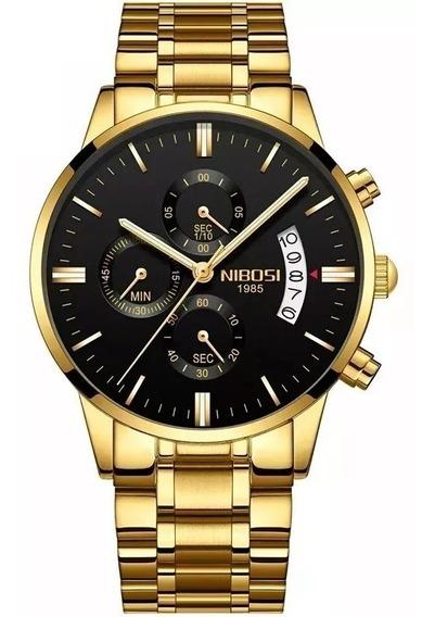 Relógio Nibosi 2309 Masculino Original Luxo Executivo Social