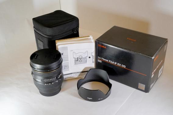 Sigma 24-70mm F2.8 If Ex Dg P/canon
