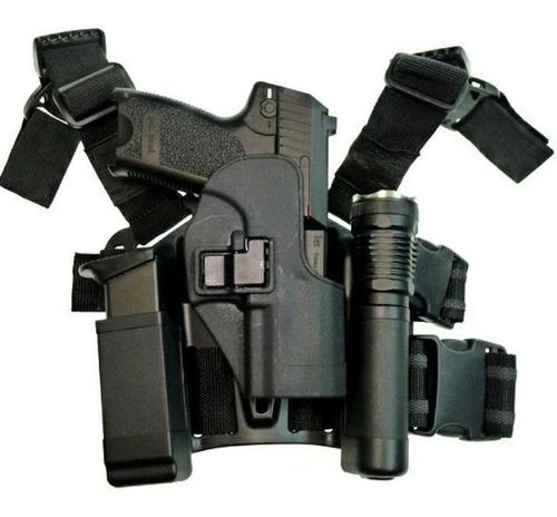 Imagen 1 de 6 de Glock Policial Muslera Estuche Porta Pistola Grande