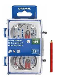 Kit Dremel Ez-lock Ez688 Mandril Ez402 +10discos Corte + Reg