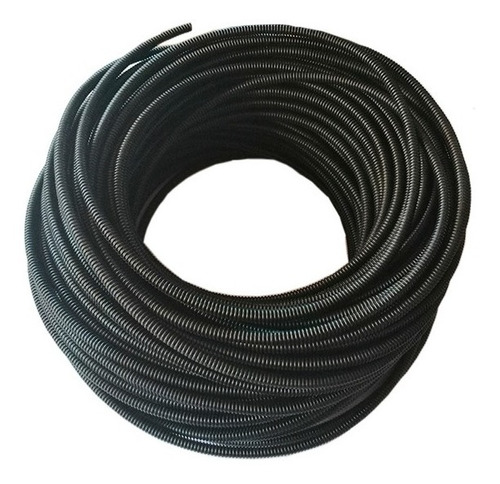 10 Mts Ducto Pasacable 3/8 Pvc Negro Abierto