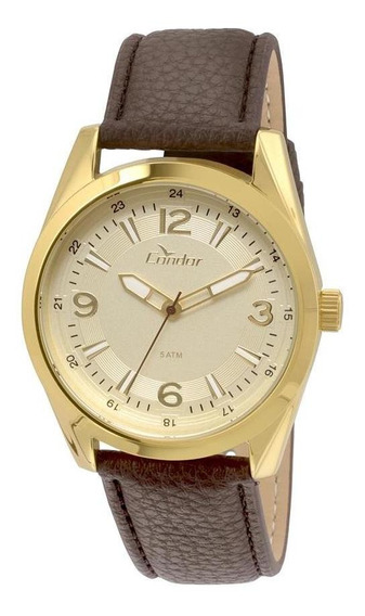Relógio Condor Masculino Metal Co2035kqa/2d - Marrom