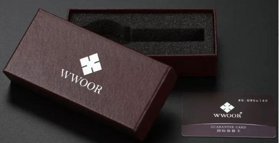 Relógio Masculino Wwoor Original Slim
