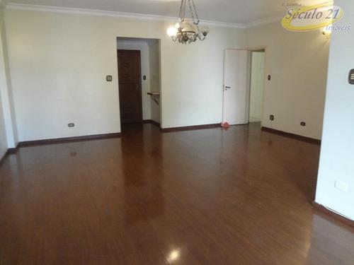 Apartamento Com 3 Dormitórios Para Alugar, 155 M² Por R$ 4.000,00/mês - Aparecida - Santos/sp - Ap5640