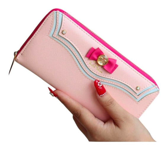 Cartera Bolsa Sailor Moon Con Monedero Serena Cute Rosa