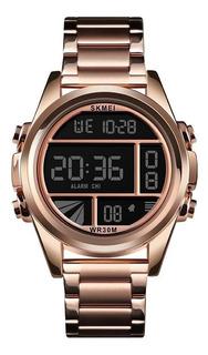 50% Off - Reloj Cronometro Skmei 1448 Digital Oro Rosa