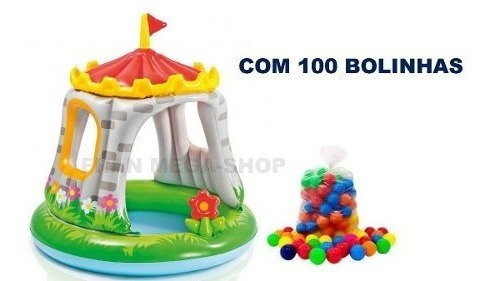 Piscina Inflavel Castelo Real Com 100 Bolinhas