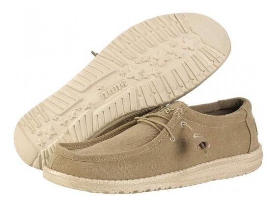 Zapato Nautico Hey Dude Wally Lona Chestnut Dep