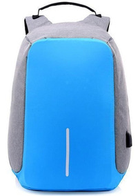 Mochila Antirobo Original Impermeable Powerbank Usb Azul