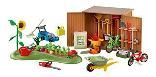 Galpón Armario De Herramientas Playmobil 6558 Playlgh Jardin