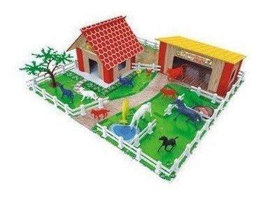 Fazendinha Junges Brinquedo De Montar 60 Pçs Mdf E Plástico