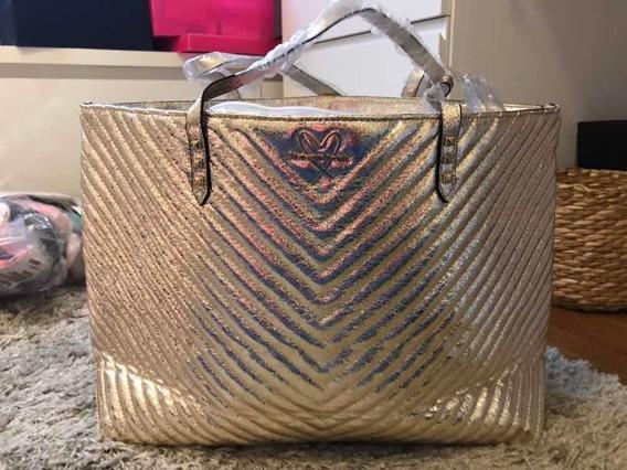 Bolsa Paetê E Fio Dourada Super Brilho Victorias Secret