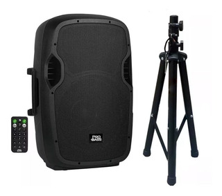 Caixa Ativa 15 Probass Bluetooth Usb + Tripe 800w Nota Fiscal Frete Gratis