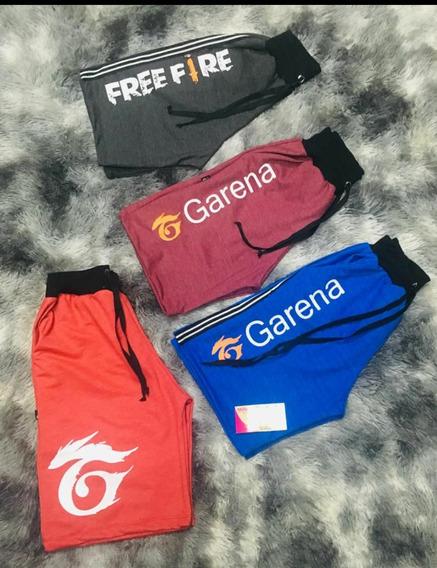 Kit Cm 06 Shorts Moletinho Free Fire/ Evangélico/ Liso