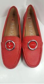 Zapatos Calvin Klein Mujer Modelo Leana Rojos Mujer # 4.5