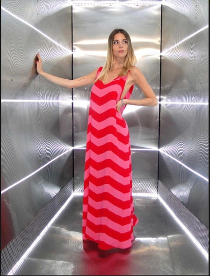 Vestido Largo Zig Zag Verano