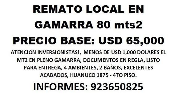 Gamarra Remato Local De 80 Mts2 A Usd 65000