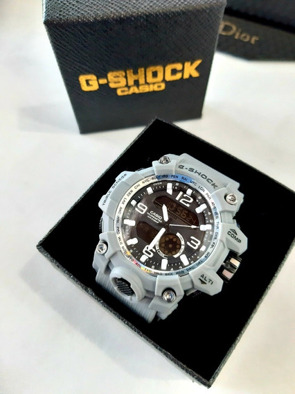 Relógio Masculino Militar Cinza Digital Na Caixa Anti Shock