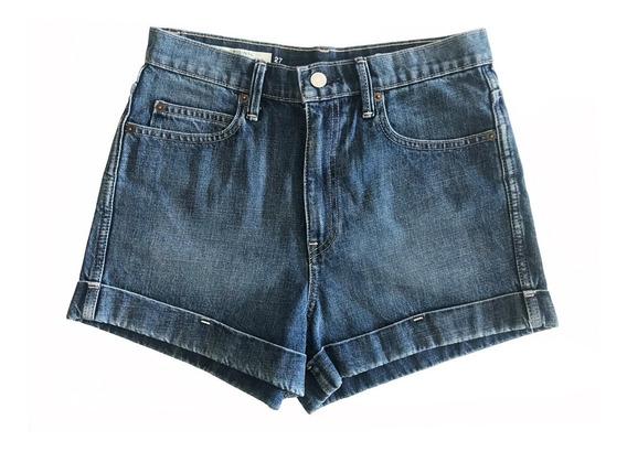 Short Jean Mujer Gap Tiro Alto Talle 27 Small Importado