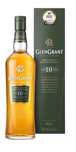 Imagen 1 de 8 de Whisky Single Malt Glen Grant 10 Años 1000ml En Estuche
