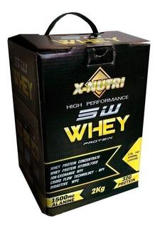 Whey Protein 2kg 5w X-nutri Isolado Hidrolisado Way Wey