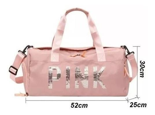Bolsa Feminina Pink Academia Fitness Luxo 2019 Importada