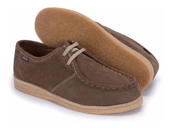 Sapato Cacareco Solado Crepe De Camurça Cor Rato