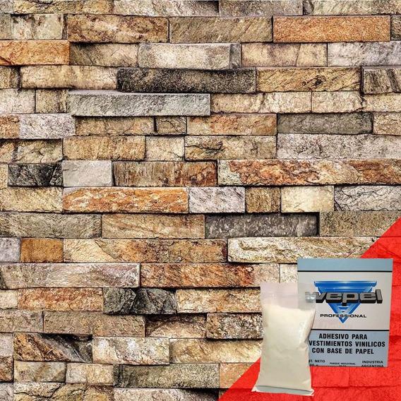 Papel Muresco Vinilizado Aroma Piedra 83211 Adhesivo Gratis