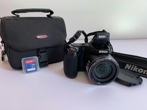 Câmera Nikon L810 Preta Usada + Cartão Sd (4gb) + Bolsa
