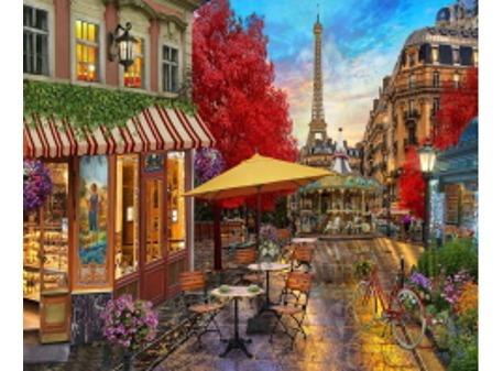 Pintura Numerada Paris Vintage Torre Eiffel
