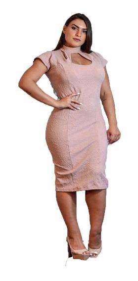 Vestido Feminino Midi Justo Lindo Moda Evangélica Secretaria