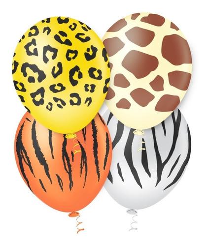 Imagem 1 de 2 de Balão Bexiga Safari - Tam. 10 C/25 Unidades - Pic Pic