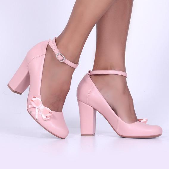 Sapato Boneca Scarpin Up Shoes Noivas Salto Grosso 8cm R1031