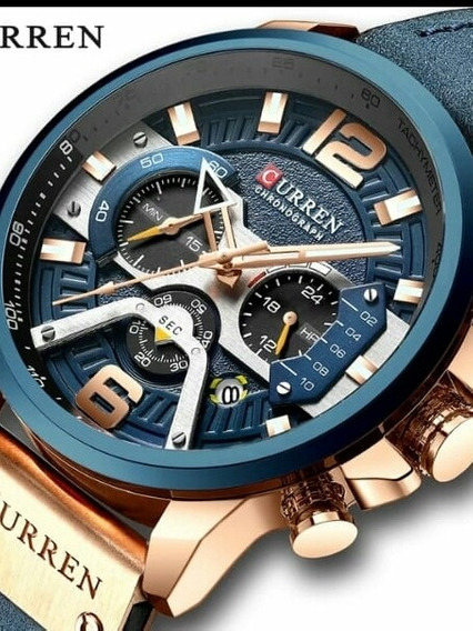 Relógio Masculino Funcional Original Curren