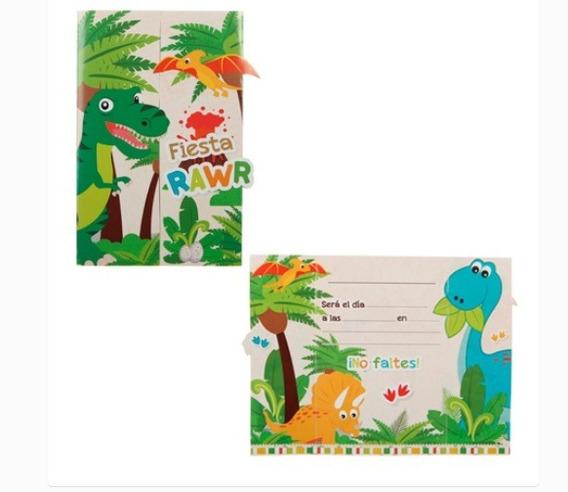 Tarjetas De Invitacion Dinosaurio Invitaciones Boda