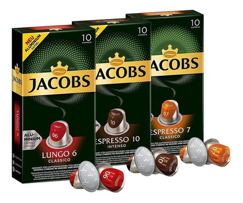 Cápsulas Nespresso Compatibles Café Jacobs - Pack 3 Cajas