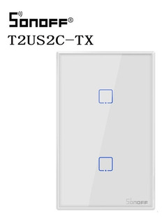 Sonoff T2 Interruptor Inteligente Us Plug 2 Botones (méxico)
