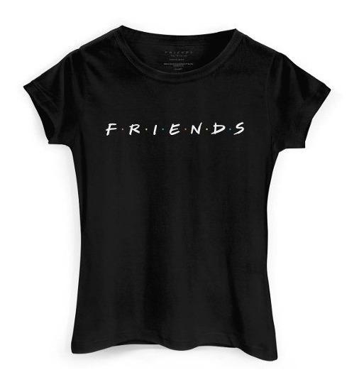 Camiseta Baby Look Friends Série Anos 90 100%algodão