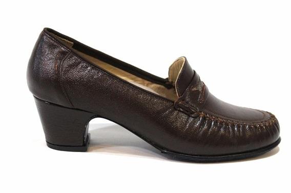 Zapato Mocasin Cuero Mujer Art 002 / M3. Marca Modigliani