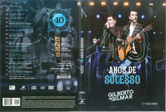 Cd+dvd Gilberto & Gilmar 40 Anos