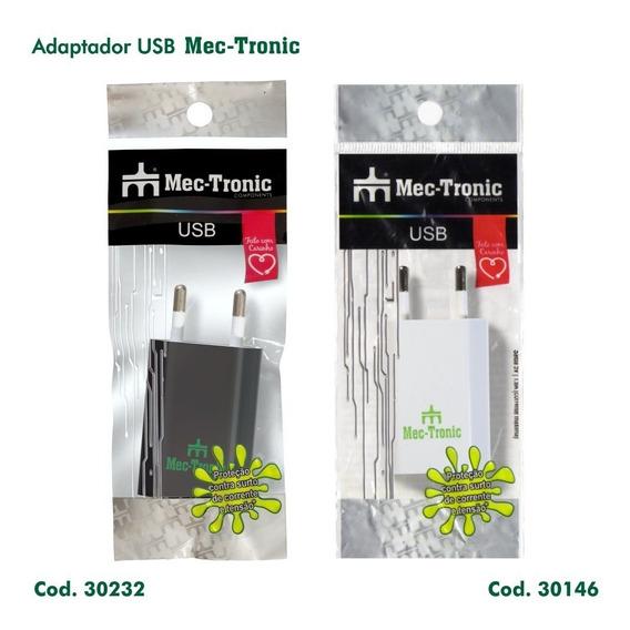 Adaptador/carregador Usb 1.0a/5v - 110v/220v - Mec-tronic