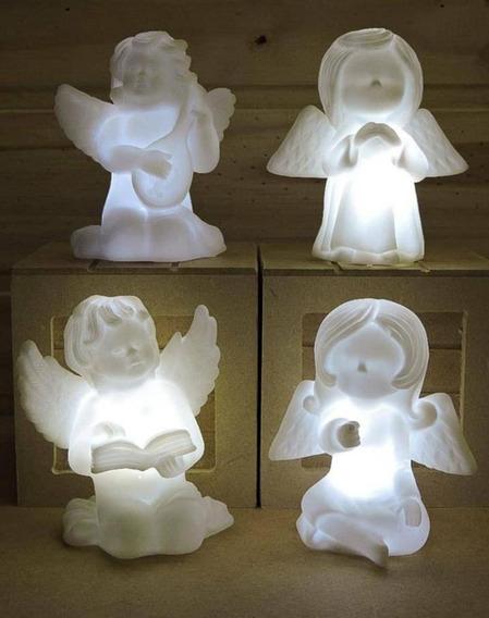 10 Luminária Led Abajur Anjinho Infantil Decoração Atacado
